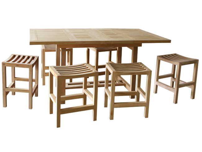 Introducing Counter Height Dining Sets. All Premium Teak For Outdoor Use.    Woodjoyteak.com
